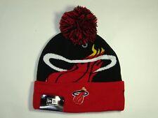 New Era NBA Miami Heat Team Big Logo 2Tone Cuffed Pam Knit Beanie Hat Cap NewEra