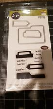 Sizzix Framelits dies and stamp set - Tabs & words Jillibean soup