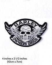Patch Harley HOG Skull ( bikers emblem )