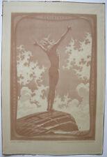 FIDUS (1868-1948) Lichtgebet Orig Lithografie 1913 signiert