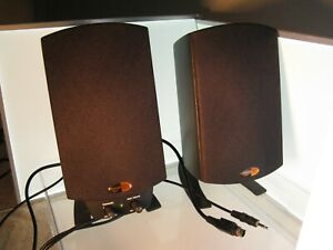 2 Klipsch THX Lucasfilm satellite speakers w/ extra chords for stereo system