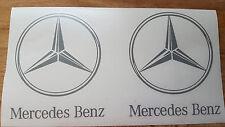 2 x MERCEDES BENZ Stern mit Schriftzug MERCEDES ACTROS LKW, 95 mm u. 100mm
