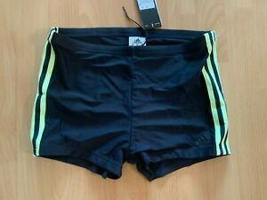 TOP Boxer Badehose Boxershorts ADIDAS Gr. 6 schwarz NEU + Etikett