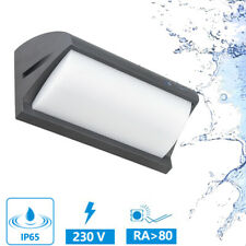 LED Faretto da Muro Applique Parete Lampada IP65 12W 230V Esterno Bagno Nero