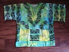 Mens Cotton Tie Dye Shirt w/ Celtic Knot Dragon Pattern sz. M L