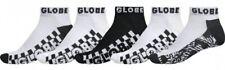 Globe Mens Socks 5 Pairs Black White Strobe Ankle