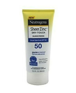 Neutrogena SPF 50 Sheer Zinc Mineral Sunscreen Lotion Broad Spectrum