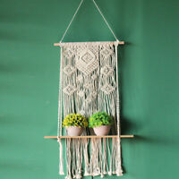 Macrame Knitted Rope Woven Tassel Wall Hanging Tapestry Handmade Bohemian Decor