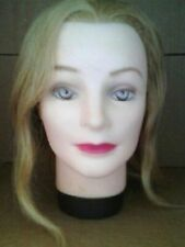 NEW HAIRART COSMETOLOGY MANNEQUIN HEAD HUMAN HAIR, BLONDE HAIR