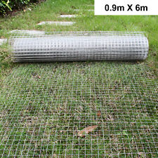"1""x1"" Welded Wire Mesh Aviary Fence Chicken Rabbit Garden Galvanised 0.9x6M UK"