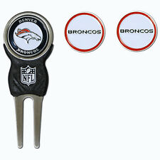 Denver Broncos NFL Team Golf Divot Tool with 3 Magnetic Ball Markers