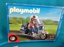 PLAYMOBIL MOTORCYCLE WITH RIDER NO 5114 COMPLETE IN BOX
