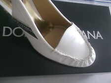 Dolce & Gabbana shoes cream patent leather