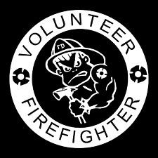 Bad Boys Club Volunteer Fire Department Car Truck Window Vinyl Decal Sticker.