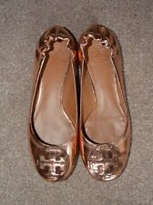 Tory Burch Leather Ballet pumps  Red Gold size 40