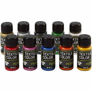 Textile Color - Fabric Paint Pack - Mother of Pearl - Set of 10 - Brand New