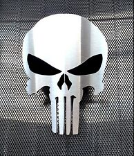 PUNISHER MESH GRILLE GRILL PLATINUM EDITION BRUSHED STAINLESS EMBLEM RBP