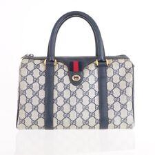 Vintage Gucci Mini Speedy Monogram Blue Red  Hand Bag. NFV4686