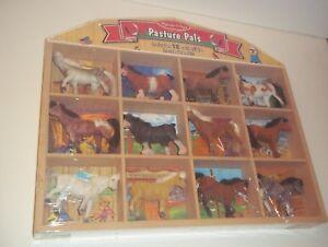 Melissa & Doug Pasture Pals Set of 12 Horses Wooden Display Case