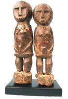 Arte Africano - Autentica E Antico Coppia Di Bo Usu Baule Su Base - Top