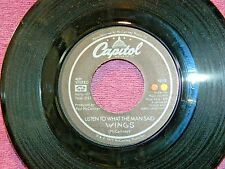 ORIGINAL RECORD CAPITAL by WINGS, LISTEN TO WHAT THE MAN SAID & LOVE IN SONG!!