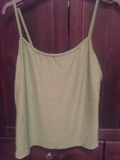 Kaliko Green Vest / Strapped Camisole Top Size 16 Good Stretch