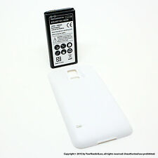 6500mAh Extended Battery for Samsung Galaxy S5 SV I9600 White Cover
