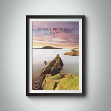 More details for dingle peninsula ireland travel poster - framed - vintage - bucket list prints