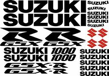 25 x Black / Red 1000 Suzuki GSXR GSX-R Decal Sticker Motorcycle Motorbike Set