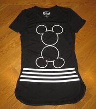 Disney Black Mickey Mouse Ears S/S Tunic Knit Top Jr Women S