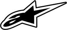 ALPINESTARS Astars DC Small Decal/Sticker (Black/White)