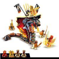 New 2020 Lepining Ninjagoed Fire Fang Spinjitzu Building Blocks Kit Bricks