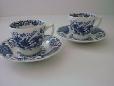 two RIDGEWAY Staffordshire WINDSOR  demitasse cups and saucers ENGLAND