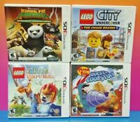 LEGO City, Chima, Kung Fu Panda, Phineas Ferb Nintendo DS Lite 3DS 2DS Game Lot