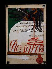 """Pierre LEGRAIN (1889-1929) Gouache originale 06/1916 projet pour""""La Baïonnette"""""""