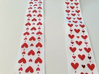 New 2M Wired Ribbon Red Hearts Christmas Gift Wrapping Weddings Bows wreaths