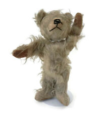 "Antique Teddy Bear Mohair with Velvet Pads and Nose 12"" Long Curly Hair & Arms"