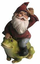 Fairy Garden-Gnome Rides Frog