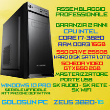 PC FISSO DESKTOP INTEL Core i7-3820 RAM 16GB SSD256GB HDD1.0TB DVD-RW GTX650-2GB