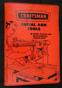 "CRAFTSMAN SEARS ROEBUCK No.9-2955 Radial Arm Tools Manual for 9"" & 10"" Saws NICE"