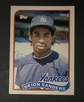 1989 TOPPS TRADED #110T DEION SANDERS BASEBALL ROOKIE CARD YANKEES RC