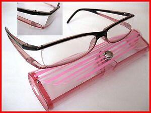 INfocus  Mod.7600  Lesehilfe / Brille m. Etui Diop.+1,0 schwarz/pink