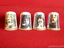 Set of Fab Four Beatles Let It Be Collector Thimbles No.1