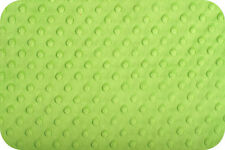 """MINKY CUDDLE DIMPLE DOT Jade Green Fabric ~ Super Soft! By the Yard ~ 60"""" Wide"""