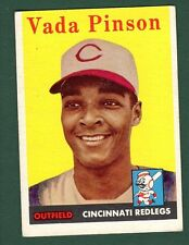 1958 Topps BB #420 Vada Pinson/Reds (RC) VG/EX