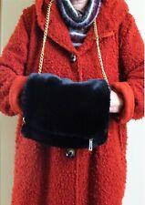 Manchon chauffe-mains Noir transformable en sac fausse fourrure Hyper féminin