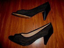 OBSEL  VERA PELLE BLACK SHOES WOMEN'S SIZE 37 (2.75 INCH HEEL)