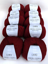 500g Lang Yarns Thema Nuova Merino fine 63 Bordeaux Dunkelrot Wolle stricken