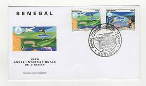 Sénégal 1998 FDC année de l'Océan oblit. 1er jour Dakar Philatélie /L4859d