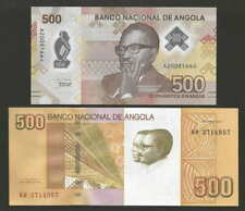 Angola set 500 kwanzas 2020 + 500 kwanzas 2012 Polymer UNC